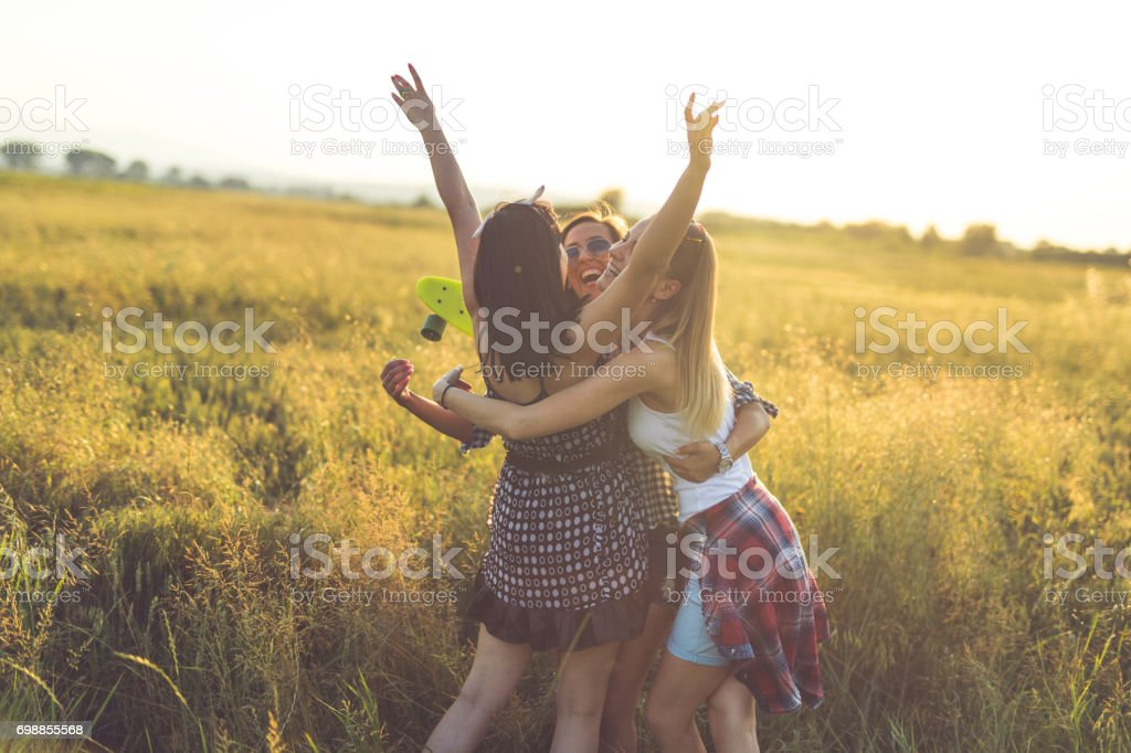 Love in the summer stock photo