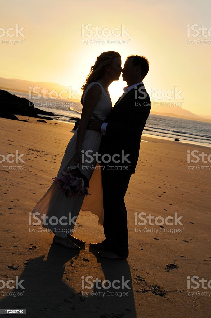 Love in the sunset royalty-free stock photo