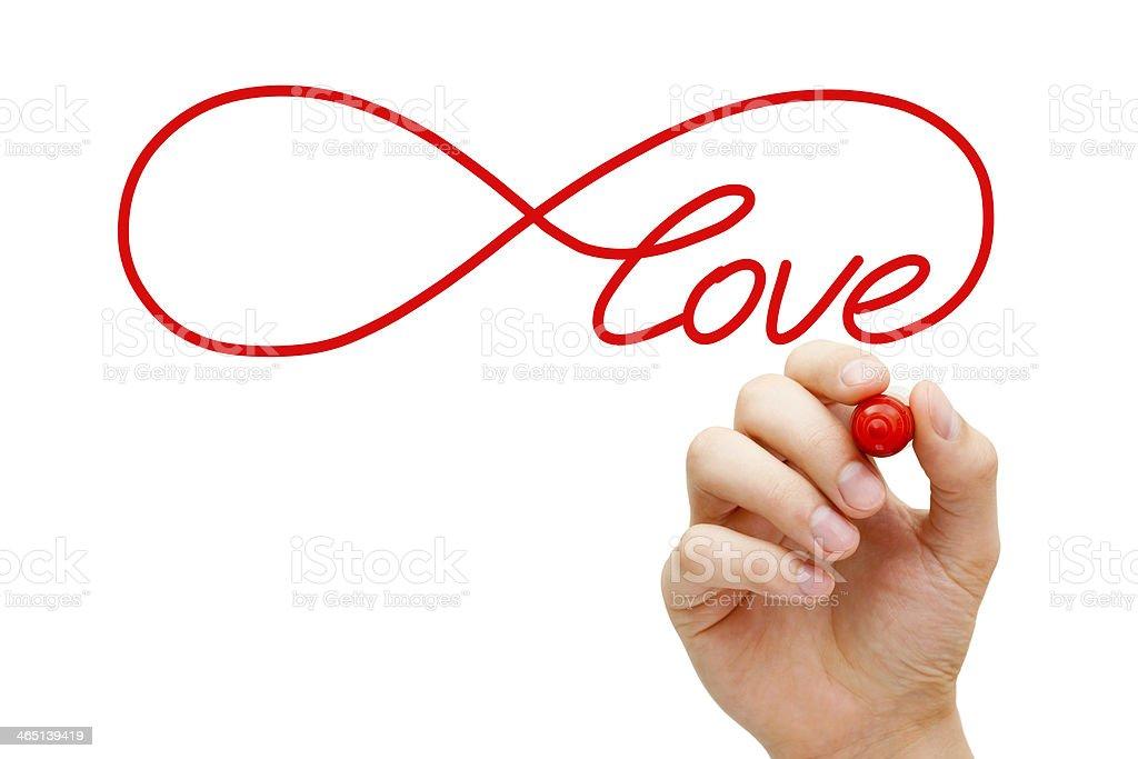 Love Infinity Concept stock photo