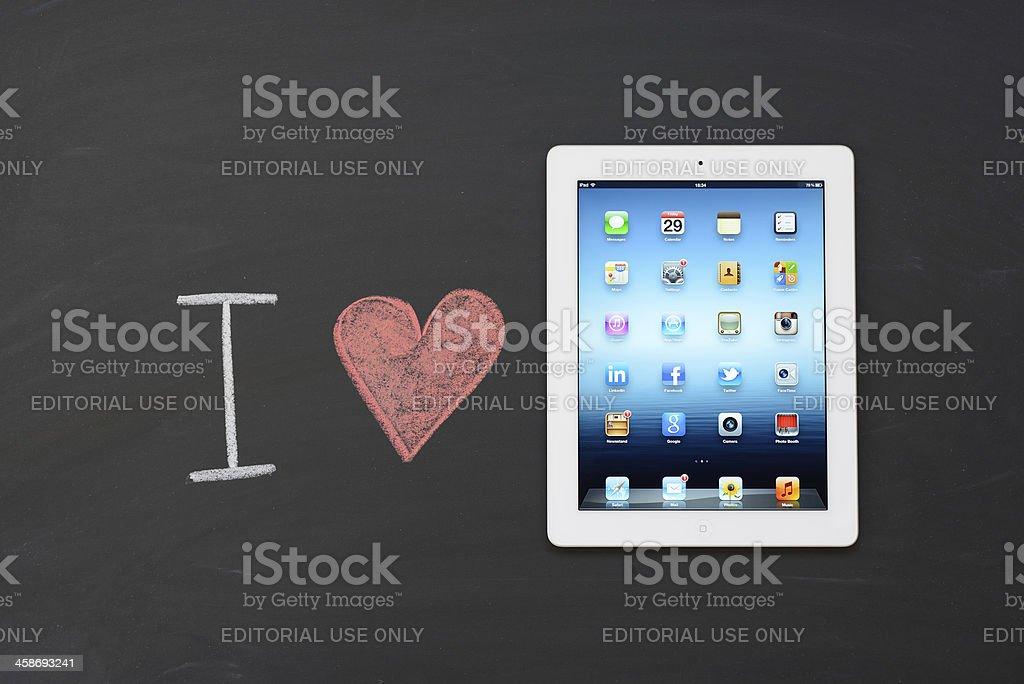 I love iPad 3 royalty-free stock photo
