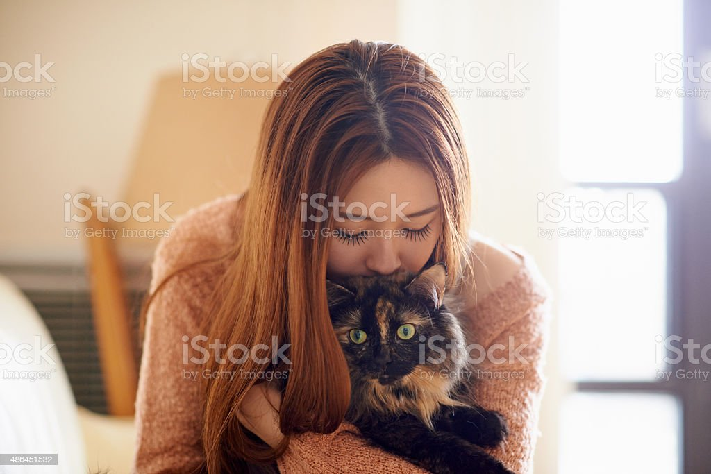 Love is a four legged word stock photo