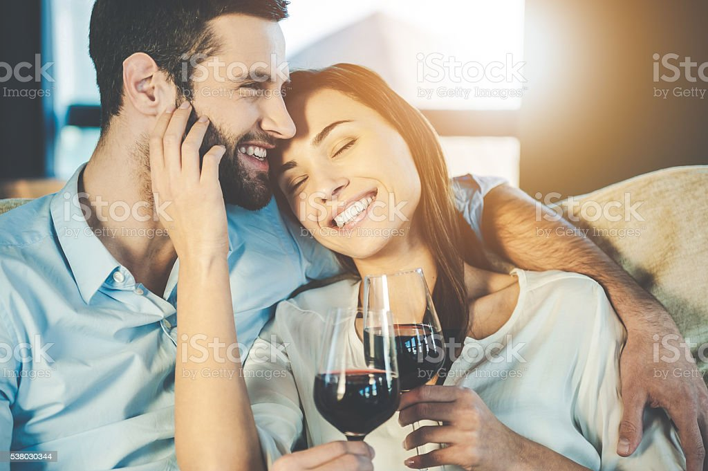 Love is a in the air. stock photo