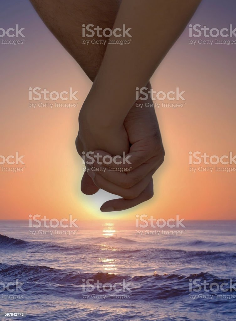 Love is a sunset in the ocean foto royalty-free