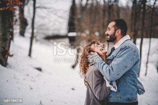 Couple sharing love