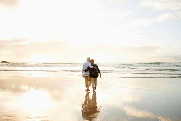 Love is finding someone to watch every sunset with you stock photo