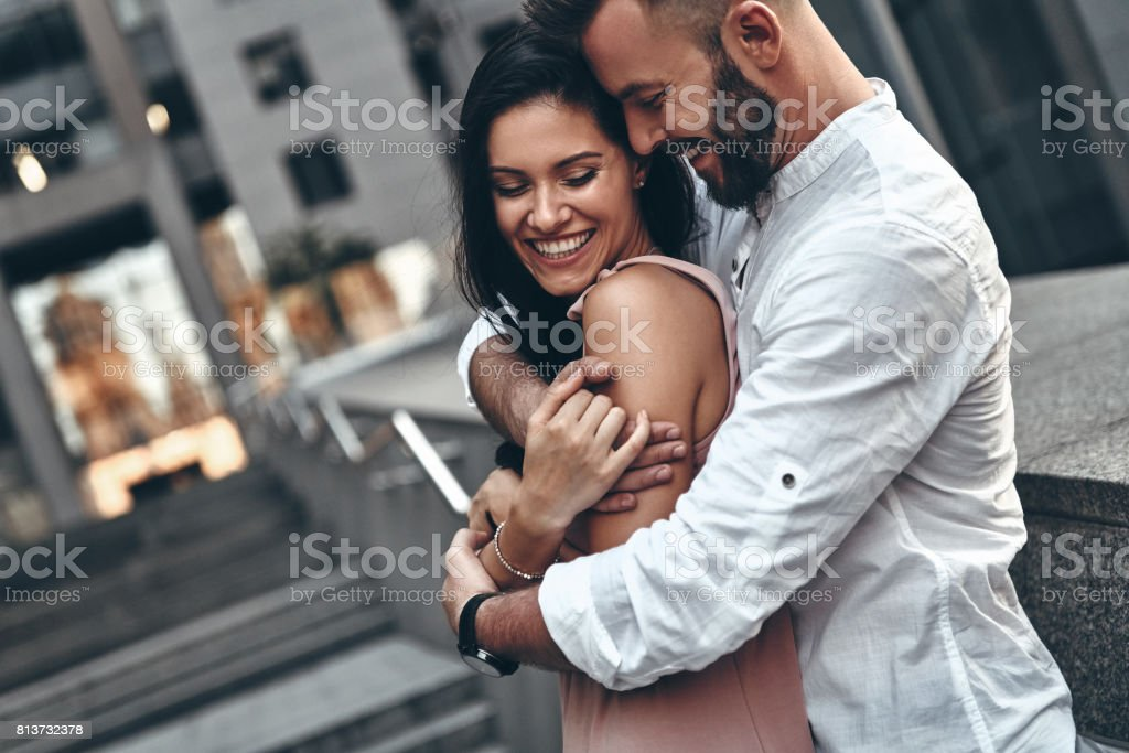 Love is in the air. stock photo