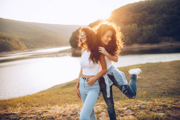 Love is in the air, this is the best summer ever. stock photo