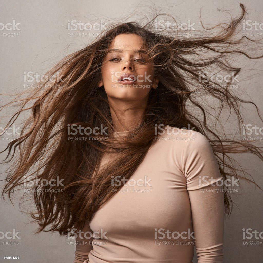 Love is in the hair stock photo