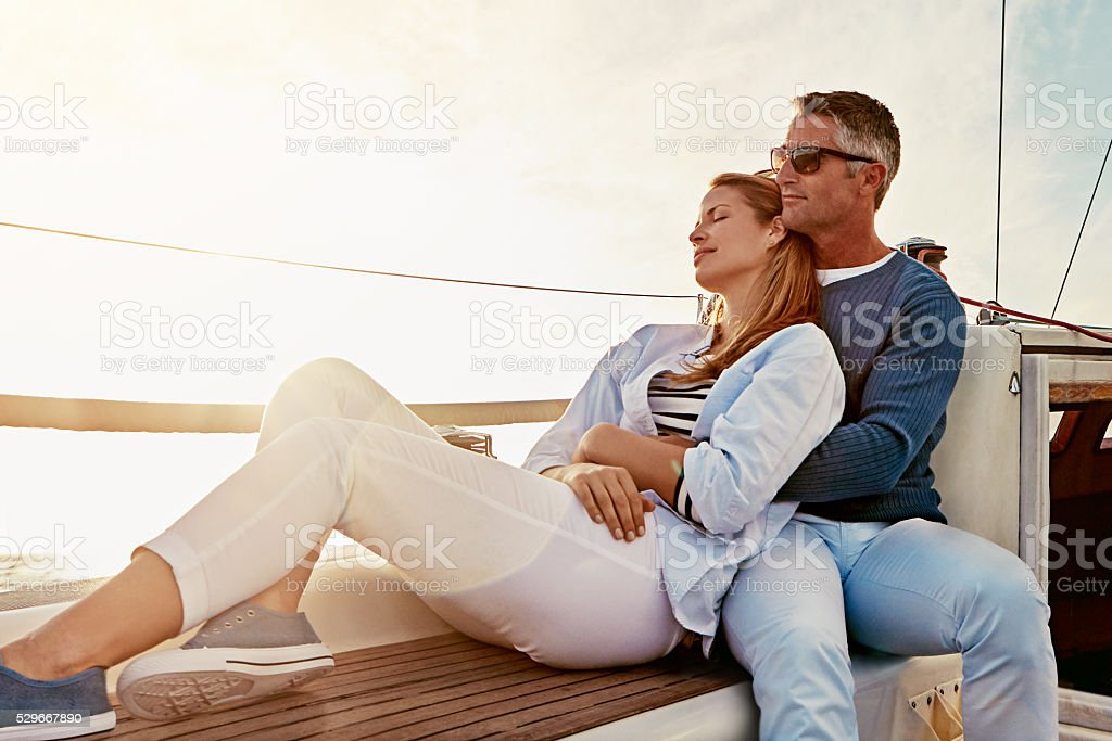Love is keeping your marriage on honeymoon stock photo