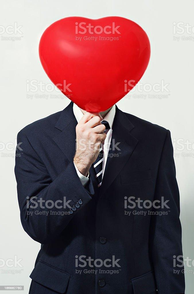 Love is over my head stock photo