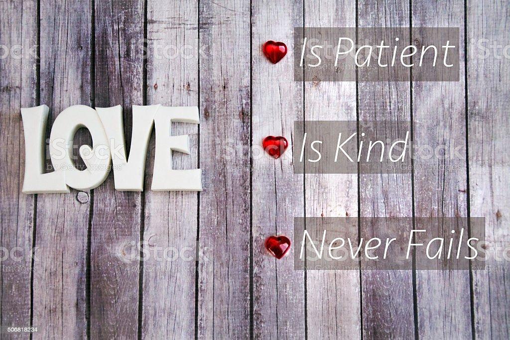 love is patient stock photo