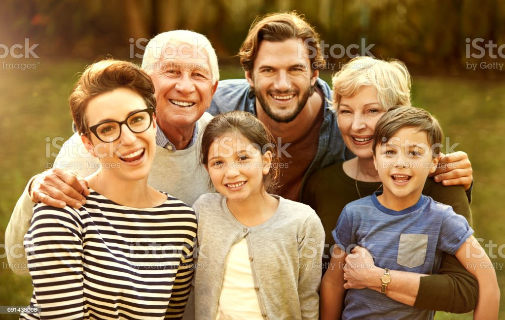 Love is the legacy of this family stock photo