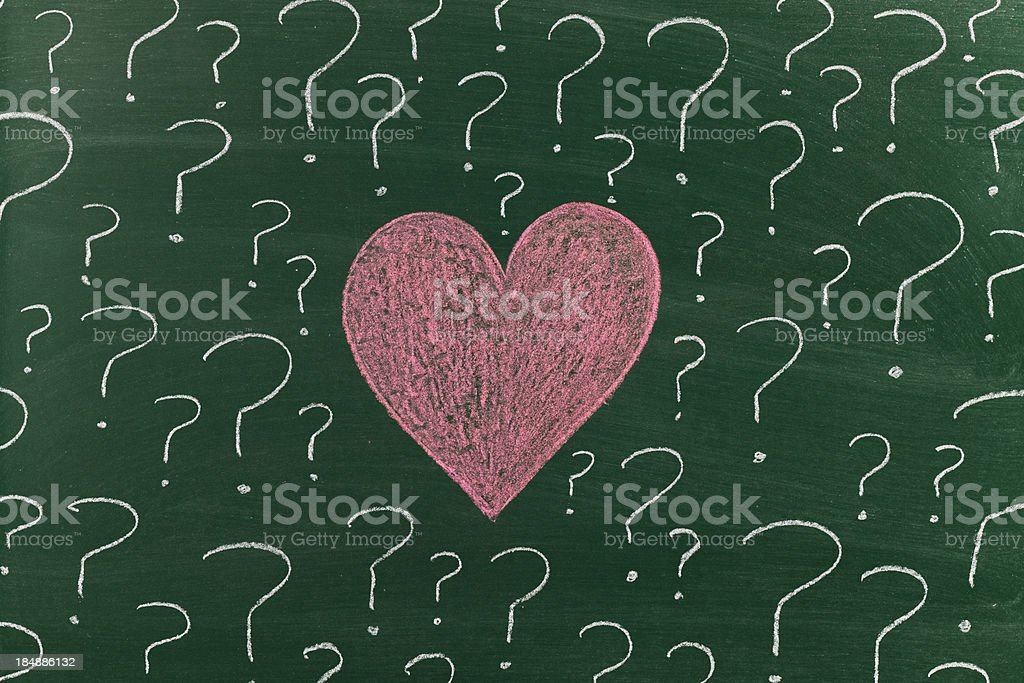 Love is uncertain royalty-free stock photo