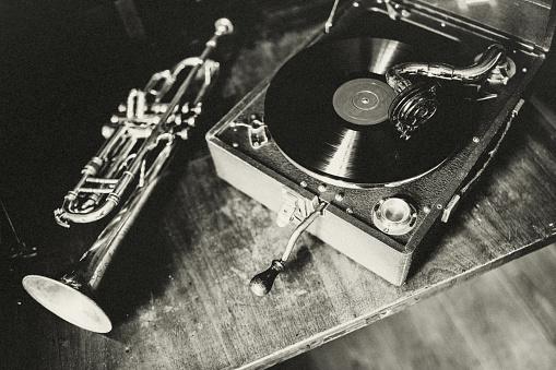 Gramophone, Analog, Music, Art, Close-up, Party, 1920, Nostalgia,
