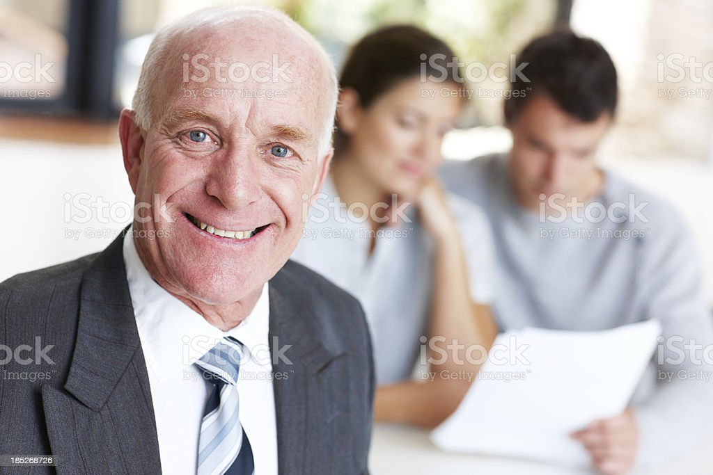 I love it when the client's happy royalty-free stock photo