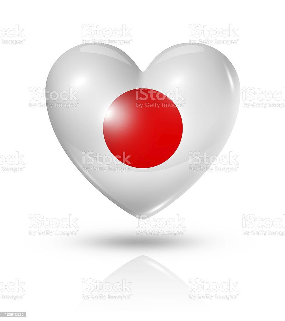 Love Japan, heart flag icon royalty-free stock photo