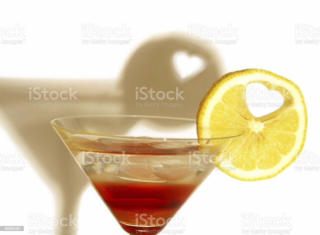 love - lemon heart royalty free stockfoto