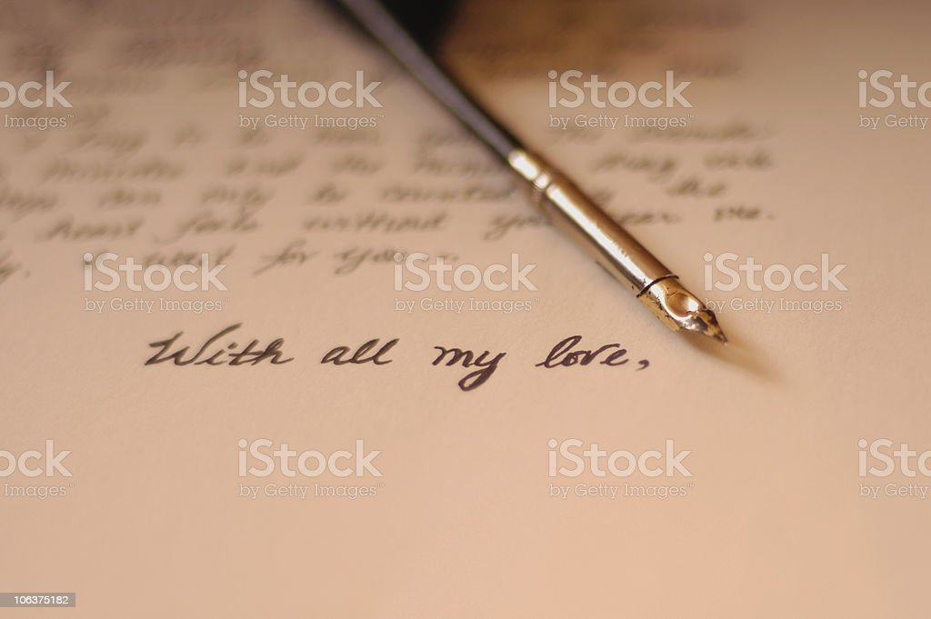 Love Letter 3 stock photo
