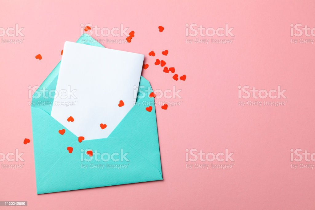 Love Letter Message Of Declaration Of Love Green Envelope