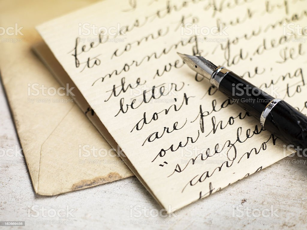 Love letter stock photo