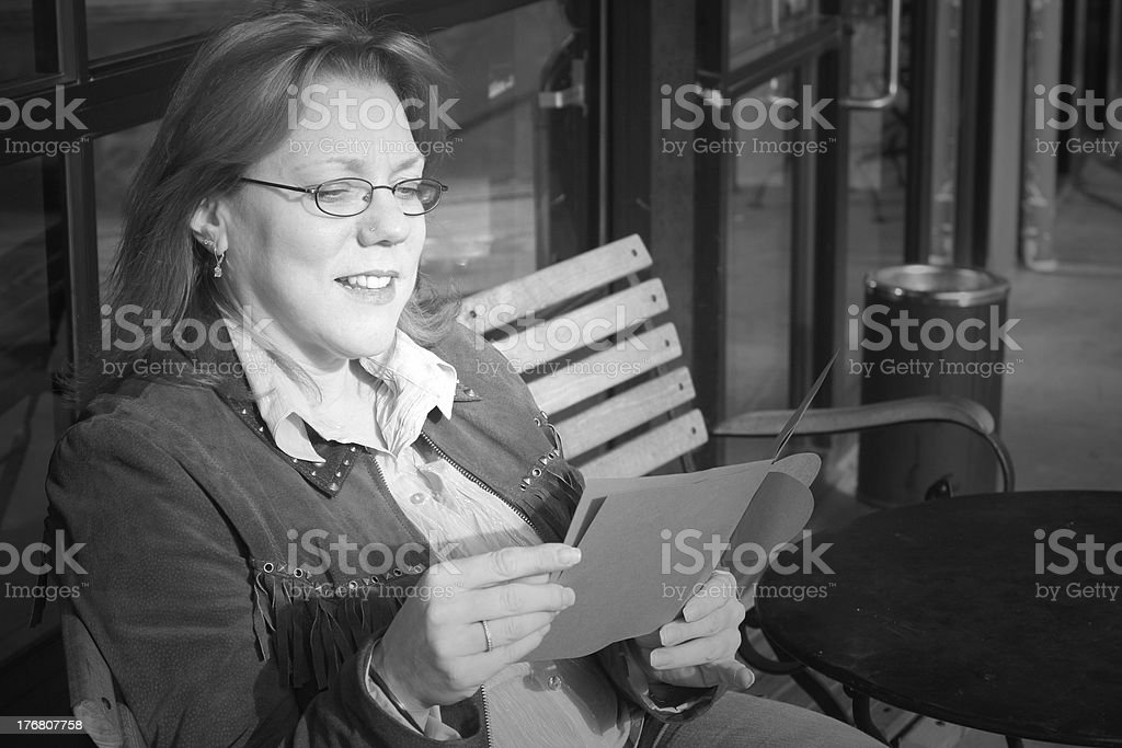 B&W Love letter stock photo