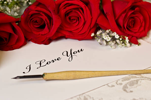 i love you love letter rose calligraphy pictures images and stock photos