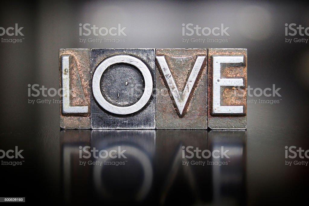 Love Letterpress stock photo