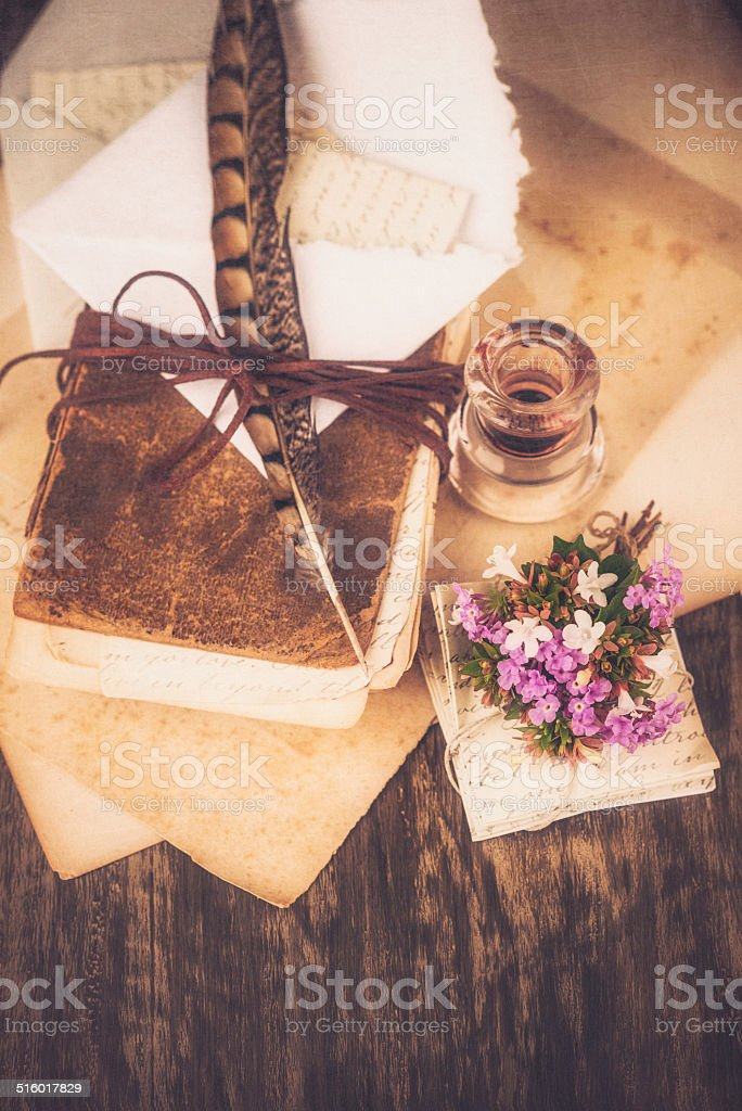 Love Letters and Diary stock photo