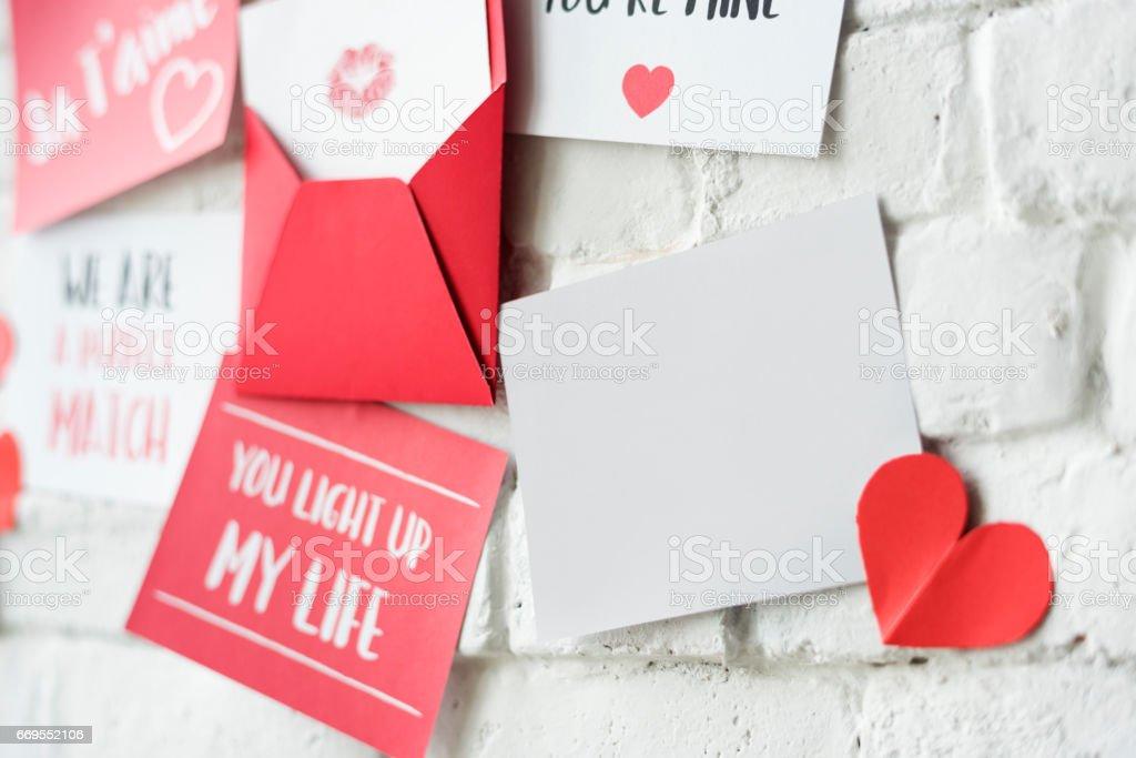 Love Letters Wall Ja T'aime stock photo