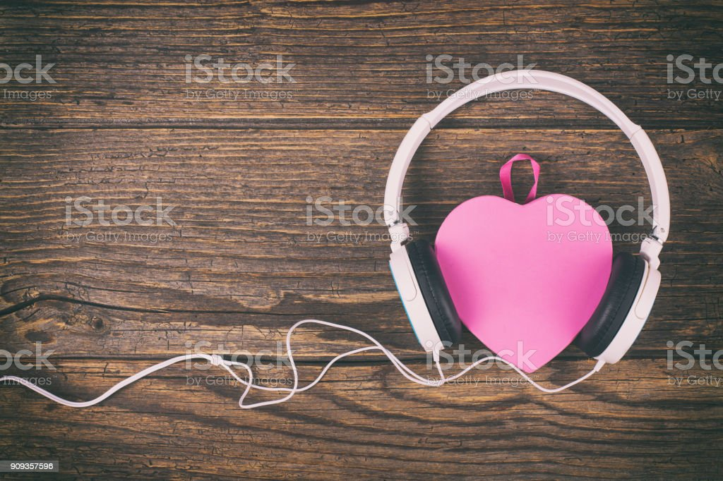Love listening to music royalty-free stock photo