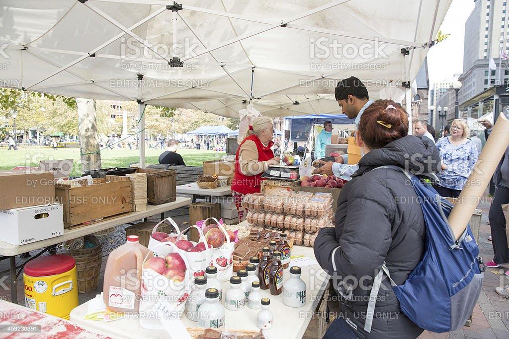 Love local:  Open air market in Boston, Massachusetts royalty-free stock photo