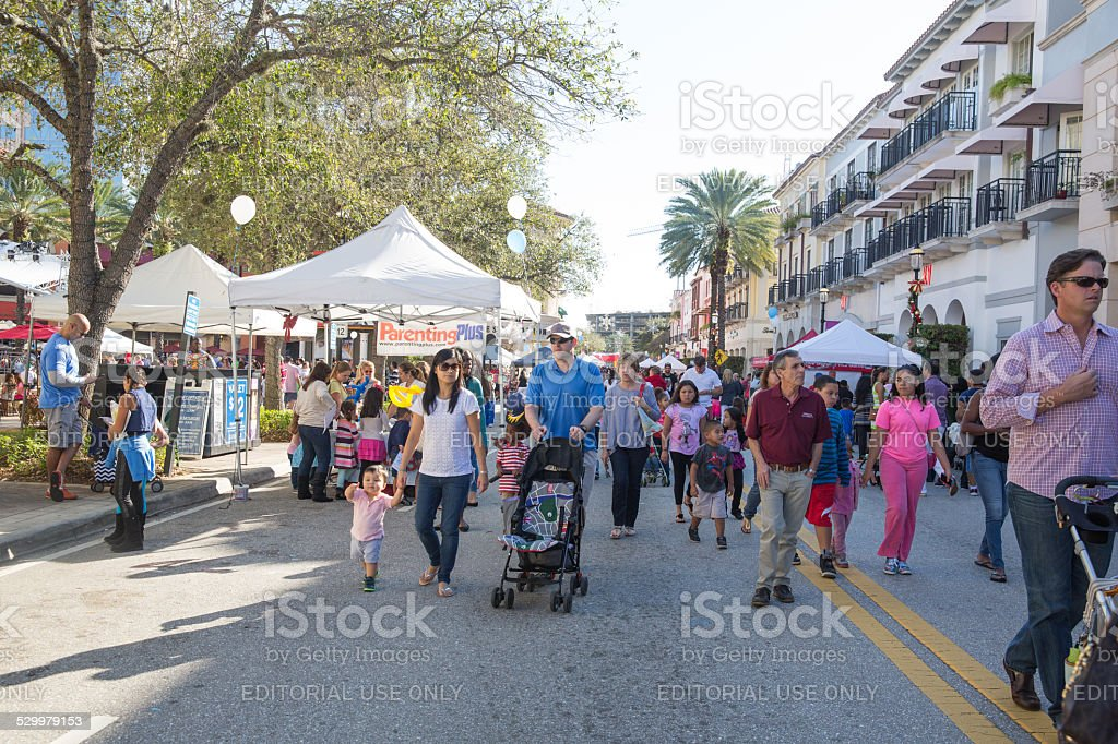 Love Local:  Strolling at Palm Beach Family Fun Festival stock photo