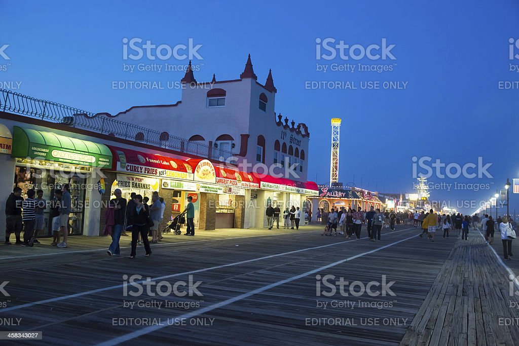 Love Local-Boardwalk, Ocean City New Jersy USA at Golden Hour royalty-free stock photo