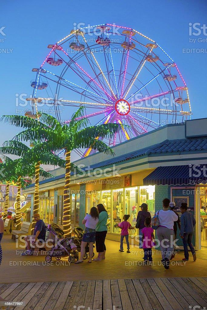Love Local-Jolly Roger Pier, Boardwalk, Ocean City New Jersy royalty-free stock photo