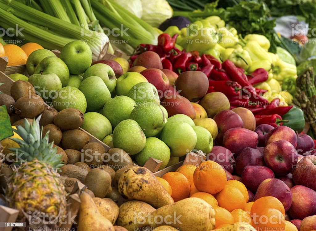 Love Locals - Groceries at display stock photo
