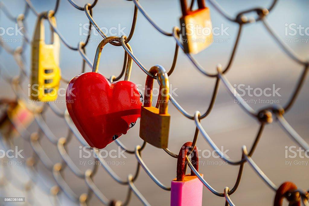Love Locks at Osanbashi Pier in Yokohama, Japan foto royalty-free