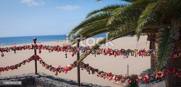 love locks in Puerto del Carmen boardwalk, Lanzarote
