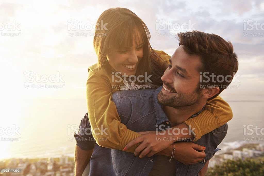 Love looks with the mind not eyes stock photo