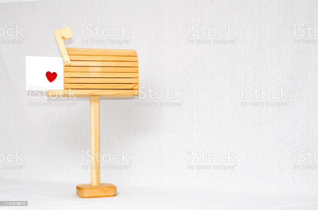 Love mail in the mailbox stock photo