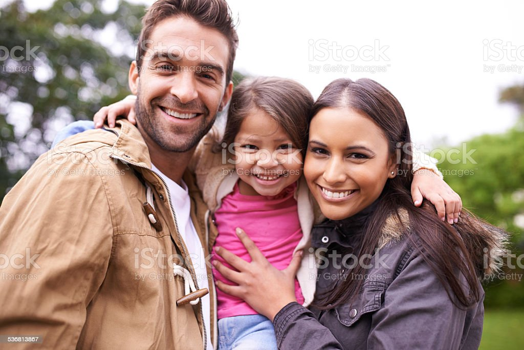 Love makes a family stock photo
