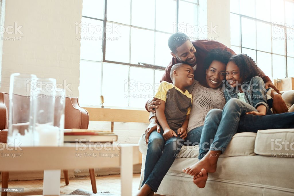 Love makes a family stock photo