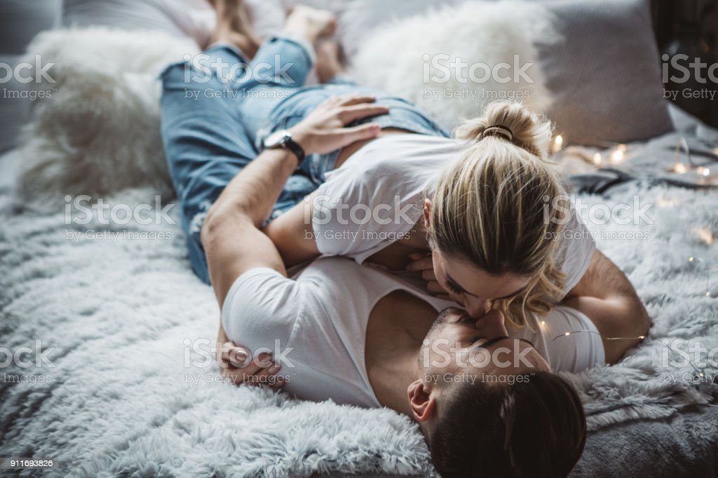 Love makes mornings even more special stock photo