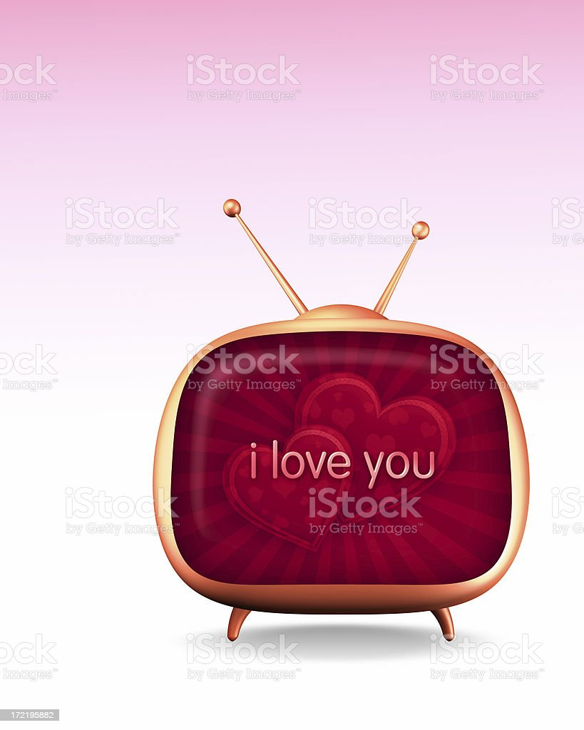 Love Message from TV (XL) royalty-free stock photo