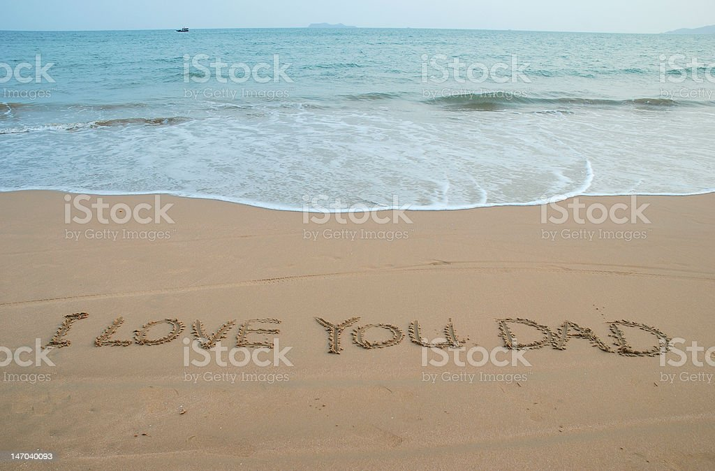 Love message in beach royalty-free stock photo