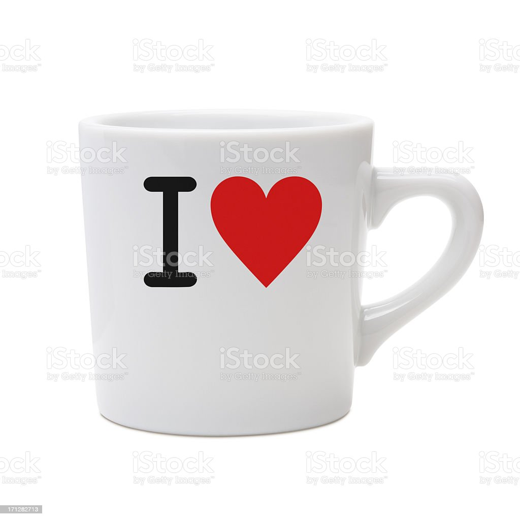 love message mug stock photo