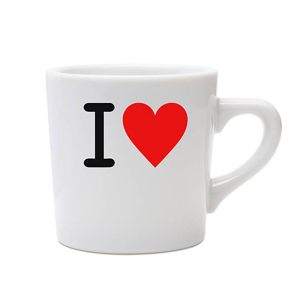 love message mug - i love you stock photos and pictures