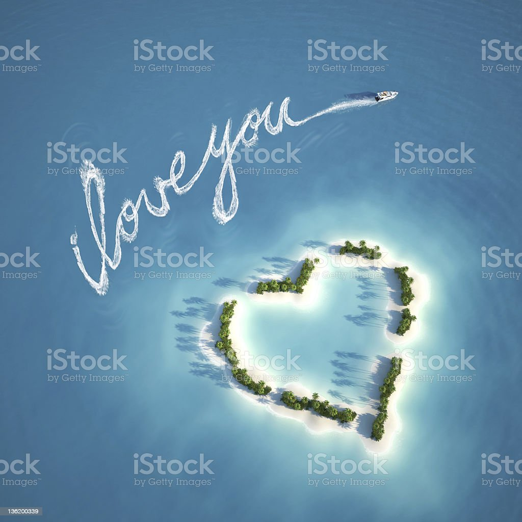 love message on the water royalty-free stock photo