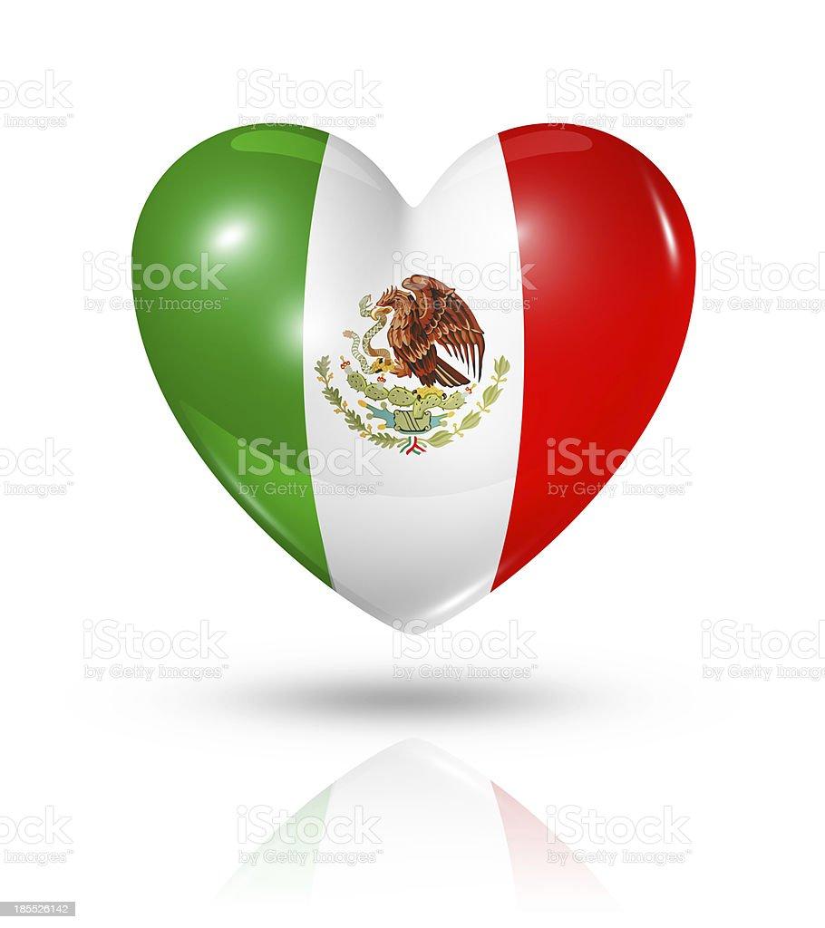 Love Mexico, heart flag icon royalty-free stock photo
