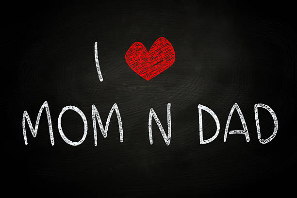i love mom and dad - i love you stock photos and pictures