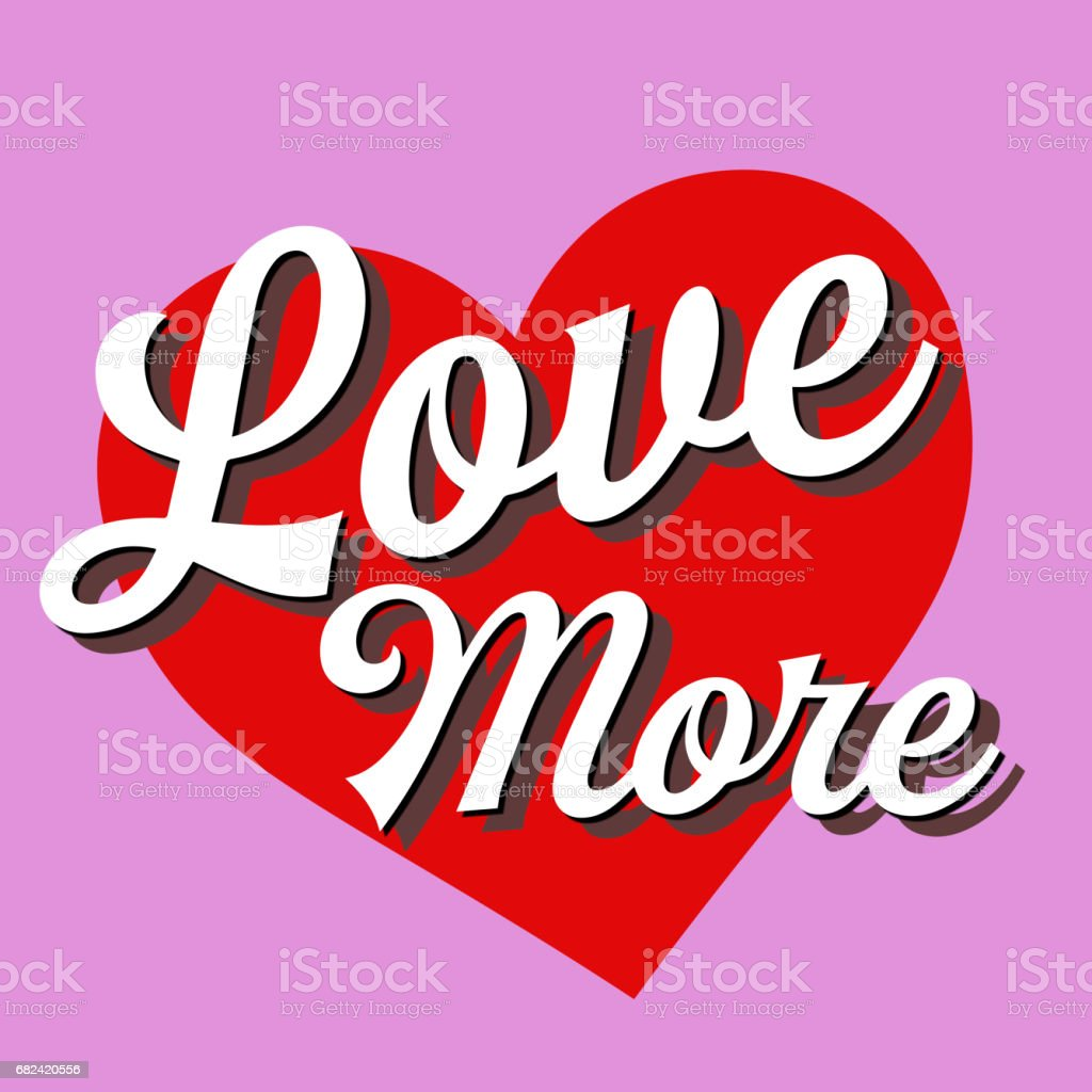 Love More Short Phrase royalty-free stock photo